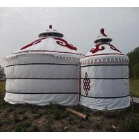 Wholesale Wind Resistant Mongolian Yurt Tent With Circular Galvanized Steel Pipe Bracket from china suppliers