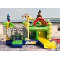 Safari World Jungle elephant Inflatable Bouncy Castle for kids Outdoor N Indoor for sale