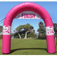 Wholesale Standard Tethered Inflatable Arch , Airtight PVC Inflatable Finish Line Arch for Outdoor from china suppliers