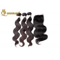 Quality Natural Black 4x4 Brazilian Body Wave Lace Closure With Natural Hair Line for sale