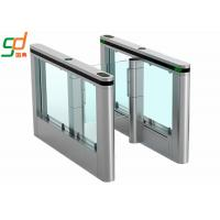Wholesale Toughened Glass Automatic Turnstiles Infrared Sensor Pedestrian Slim Fast Gate from china suppliers