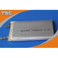 GSP063465 3.7V 1300mAh Polymer Lithium Ion Battery cells with high capacity for sale