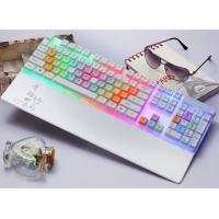 Wholesale Waterproof White Color LED Mechanical Keyboard Rainbow Light Keyboard from china suppliers