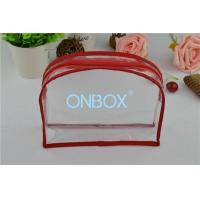 Wholesale Customized Size Clear PVC Handbag W / Zipper For Beach Products / Makeup from china suppliers