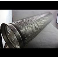 Wholesale Polished Surface Perforated Steel Pipe , Thickness 0.1-50mm Perforated Stainless Tube from china suppliers