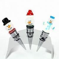 Wine bottle stoppers, with glass ornaments, suitable for wine series tools for sale