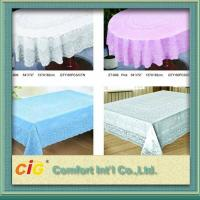 Wholesale Elegant Patterned Lace Round PVC Transparent Film Tablecloth For Picnic / Restaurant from china suppliers