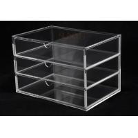 Quality OEM 3 Tier Drawers Custom Store Fixture Clear Acrylic Storage For Supermarket for sale