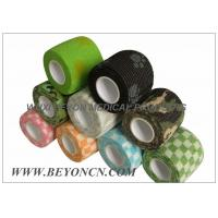 Wholesale Patterned Prints Cohesive Colored Sport Tape Logo Imprinted , Black Athletic Tape from china suppliers