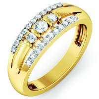 Wholesale 18K Fashion Jewelry Rings Sterling Silver Diamond  High-polish Wedding Ring from china suppliers
