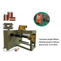 China 800mm Transverse Length Transformer Coil Winding Machine With Flat Or Round Wire for sale