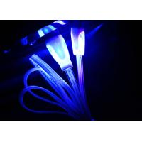 Wholesale Blue Color Night Light Up Micro USB Charging Cable For Android Phones from china suppliers