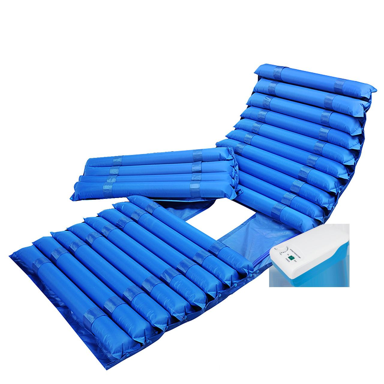 Wholesale 5.0-5.5L/minute Air Output Anti Decubitus Tube Mattress , Strip Alternating Air Mattress with Big Pump from china suppliers