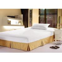 Buy cheap Fashion Hotel Bed Skirts Light Yellow With 100% Polyester King Size from wholesalers