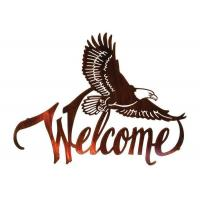 Wholesale American Bald Eagle Welcome Large Metal Wall Sculptures For Home Decorations from china suppliers