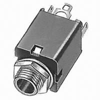 China 6.3mm Diameter Phone Jack, Metal Bushing Type, with 500V AC/1 Minute Dielectric Strength for sale