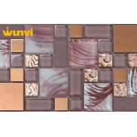 Wholesale Building Decorative Stainless Steel Mosaic Tile / Metallic Glass Tile from china suppliers