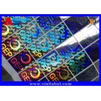 China Small Custom Holographic Stickers For Cardboard Storage Boxes With Serial Number Anti Fake for sale