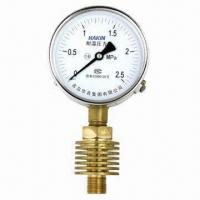 China High Temperature Pressure Gauge with 1.6 Accuracy Class on sale