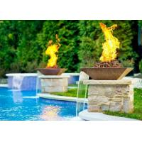 Wholesale Garden Fire Pit Water Feature Combo , Fire Pit And Water Feature 2.5mm Thicknes from china suppliers