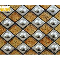 Wholesale Stainless Steel Diamond Shaped Gold Mosaic Tiles For Building Construction from china suppliers