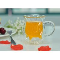Wholesale Handle Double Wall Borosilicate Glass , Milk Double Layer Glasses from china suppliers