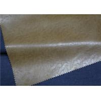 Wholesale Brown Embossed Garment Leather Fabric 0.6 Mm Thickness For Men