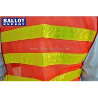 Quality Classic Style Reflective Work Vest Yellow Polyester Fluorescent Protective Clothes for sale