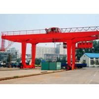 PLC Automatic Control Industrial Gantry Crane , Rail Mounted Container RMG Outdoor Gantry Crane for sale