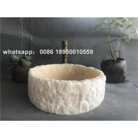 Marble bathroom round vessel sinks natural stone wash basin luxury marble wash bowl for sale