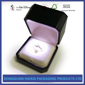 China Elegant Black LED Earring Jewelry Box , Custom Jewelry Boxes Handmade Design on sale