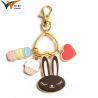 Wholesale Custom Key ring  /  Cute Cat Cartoon Metal keychain for sale