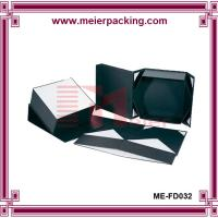 Wholesale Black midium sqaure paper foldable box, recycle craft paper box ME-FD032 from china suppliers