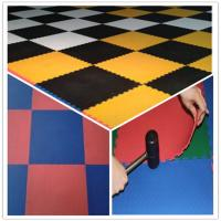 Wholesale 3W Oil Resistance Plastic PVC Click Interlocking Flooring Tiles from china suppliers