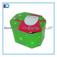 Quality rectangular fancy gift metal biscuit tin for sale
