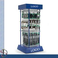 Wholesale Tooling 4 sides grid display / metal display stand / Tooling display rack with casters / Tooling display stand from china suppliers