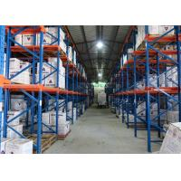 Wholesale Warehouse Metal Steel Storage Drive In Racking System Space Saving 500-2000KG / Pallet from china suppliers