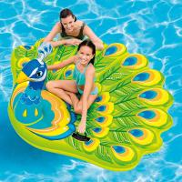 "Wholesale Summer Custom Logo Peacock Inflatable Pool Float Island, 76X 64X 37"" For Ages 6+ from china suppliers"
