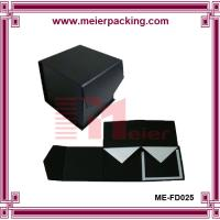 Wholesale Gift box, paper foldable gift box, black jewelry paper packaging box ME-FD025 from china suppliers