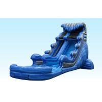 Wholesale 22Ft Tidal Wave Backyard Water Slides , Singel Lane Inflatable Super Slide With Climbing Stair from china suppliers