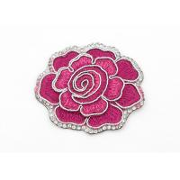 Wholesale Clothing Appliques Flower Embroidery Patches Peony Pattern Exquisite Elegant from china suppliers