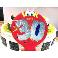 Wholesale Pretty Colorful Balloon Shaped Printable Birthday Candles With Number And Cartoon Painted from china suppliers