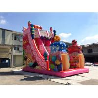 Buy cheap Pink Candy 0.55mm PVC tarpaulin Outdoor Giant Inflatable Slide / Blow Up Amusement Park from wholesalers