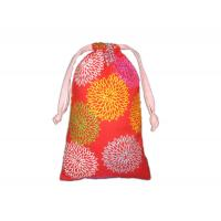 Wholesale Colorful Custom Pull String Bags Printed Cotton Fabric Drawstring Gift Pouch from china suppliers