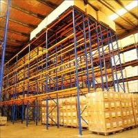 Wholesale Metal Q235B Double Deep Storage Racking Systems  For Industrial Warehouse from china suppliers