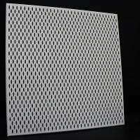 Fireproof Clip In Ceiling Panel , 600*600 Large Aluminum Plafond Perforated Metal Tiles for sale