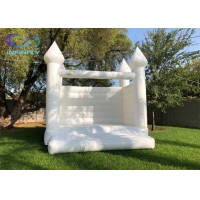 Wholesale 0.55mm PVC Tarpaulin Inflatable Wedding Bouncer Inflatable White Wedding Bounce House from china suppliers