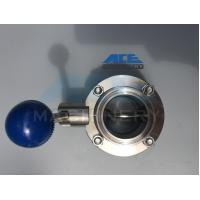 Wholesale Stainless Steel Manual Welded/Threaded Butterfly Valve (ACE-DF-4D) from china suppliers