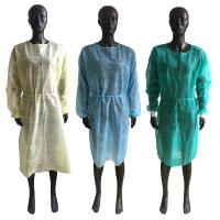 Wholesale Soft Disposable Isolation Gown , Disposable Ppe Gowns Elastic Cuffs OEM Service from china suppliers