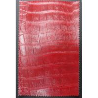 Wholesale Thickness 0.6-0.7mm PU Coated Leather Red Color with Good Abrasion Resistance from china suppliers
